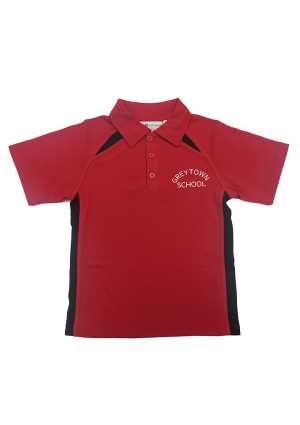 Greytown School Short Sleeve Polo Red/Black